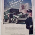 1945 Autocar Fisher Foods Tractor Trailer Truck ad