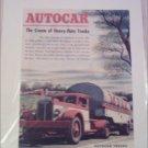 Autocar Milk Tanker Tractor Trailer Truck ad