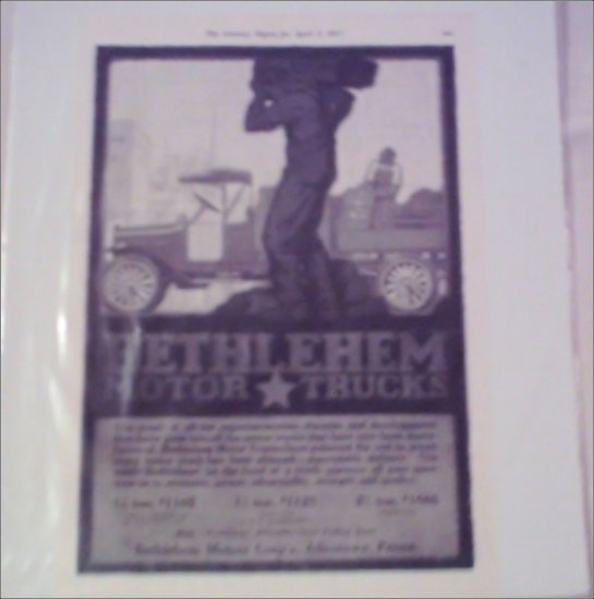1917 Bethlehem Truck ad