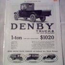 1916 Denby Truck ad
