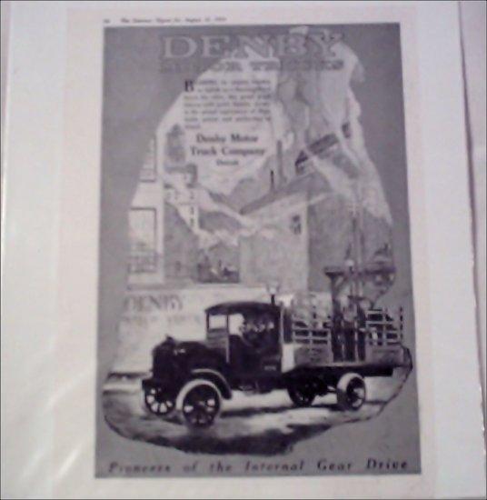 1919 Denby Truck ad