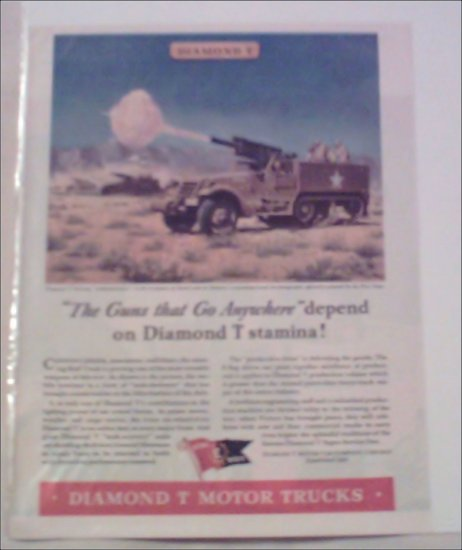 1943 Diamond T 105 MM Tank Destroyer ad
