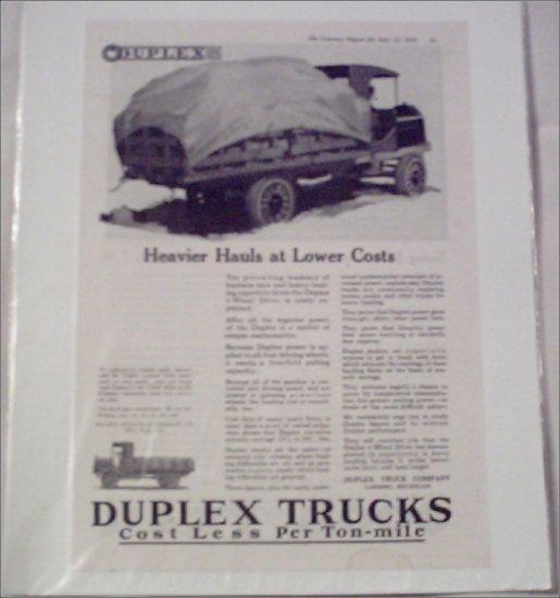 1919 Duplex Truck ad