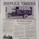 1920 Duplex Truck ad