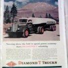 Diamond T Tanker Trailer Truck at Mt Shasta ad