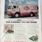 1954 Diamond T Tilt-Cab Truck ad for Pearl Beer
