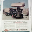 1948 Diamond T Flatbed Monarch Lumber Truck ad
