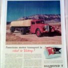 1942 Diamond T Tanker Trailer Truck ad