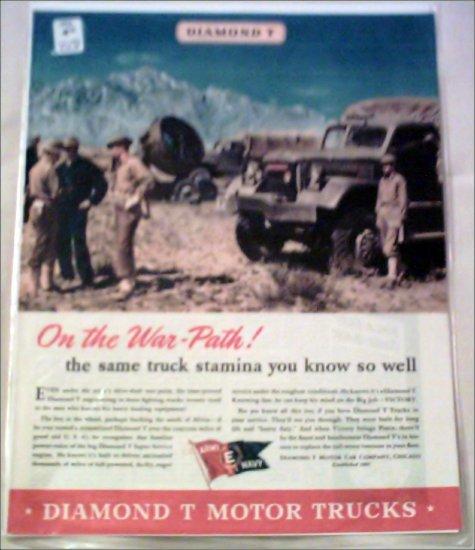 1943 Diamond T Military Truck ad