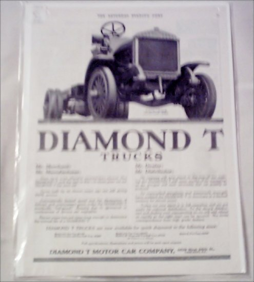 1917 Diamond T Truck ad