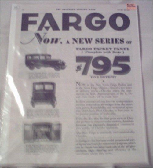 1928 Fargo Truck ad