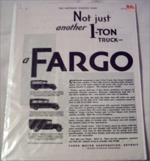 1929 Fargo Truck ad