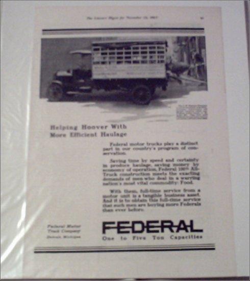 1917 Federal Truck ad #1