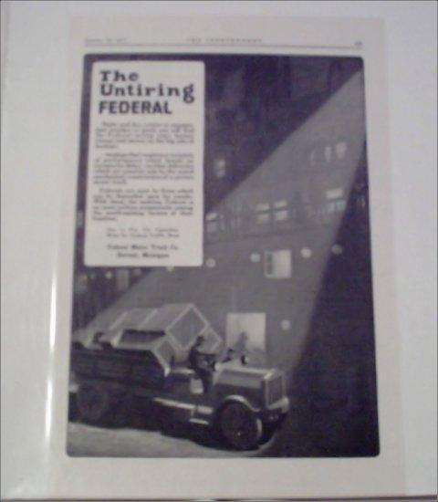 1917 Federal Truck ad #2