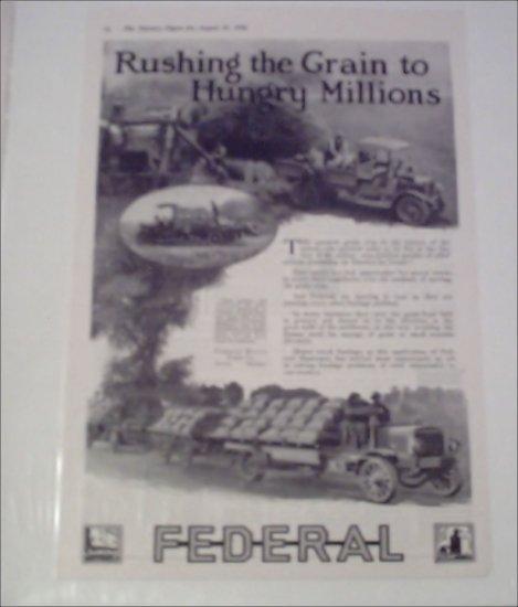 1918 Federal Truck ad #2