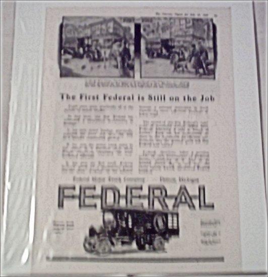 1918 Federal Truck ad #3