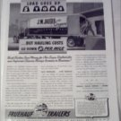1942 Fruehauf Trailers ad for J. W. Jaeger Sugar Company
