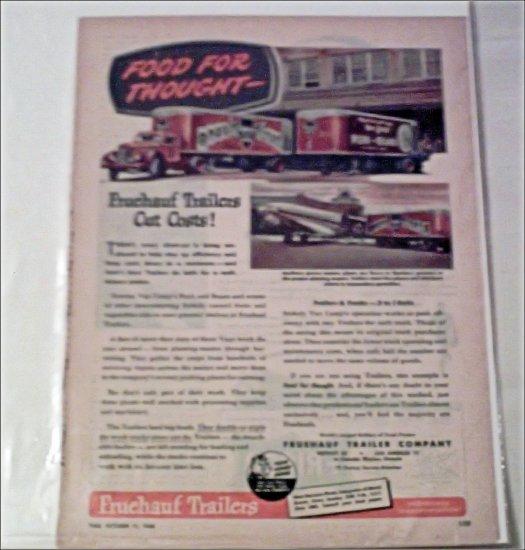 1948 Fruehauf Trailer ad for Van Camps Pork & Beans