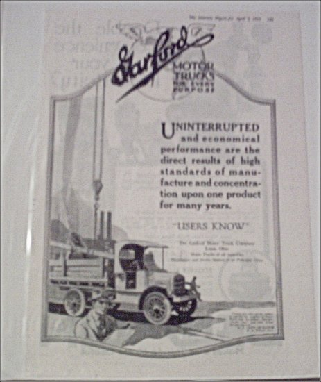 1919 Garford Truck ad #1