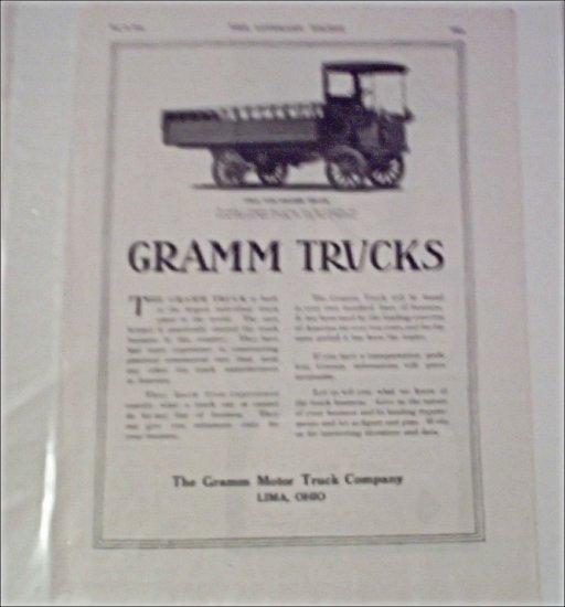 1912 Gramm Truck ad #2