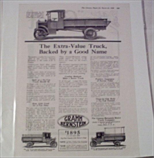 1919 Gramm Bernstein Truck ad #1