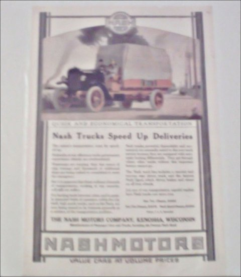 1920 Nash Motors Truck ad #1