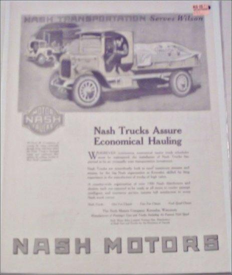 1920 Nash Motors Truck ad #2