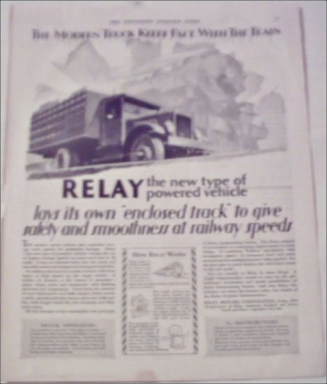 1929 Relay Truck ad