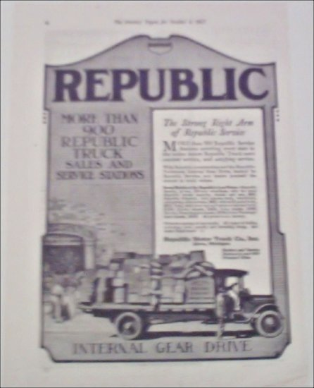 1917 Republic Truck ad #2
