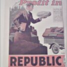 1918 Republic Truck ad
