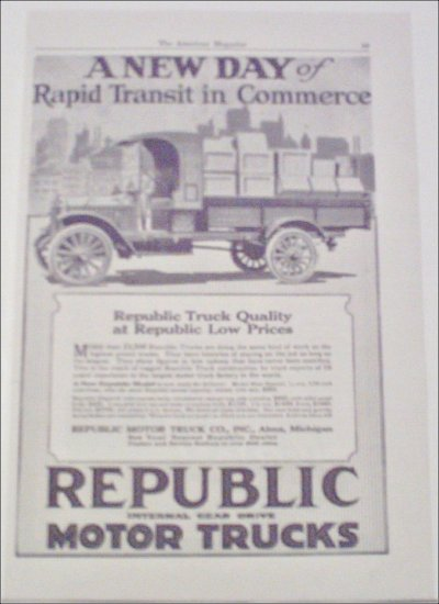 1919 Republic Truck ad #2