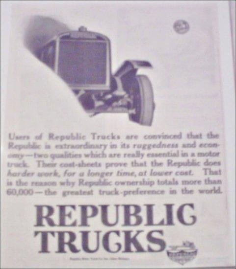 1920 Republic Truck ad #3