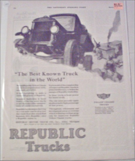 1924 Republic Truck ad