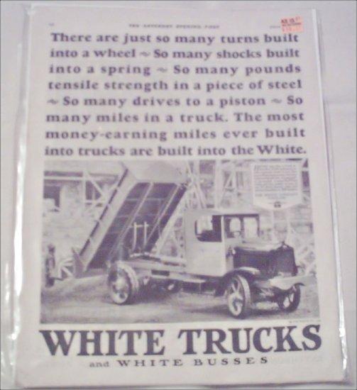 1927 White Dump Truck ad