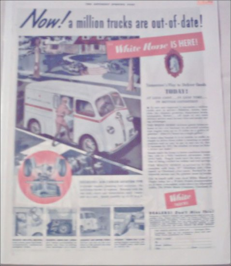 1939 White Horse Delivery Van ad #1
