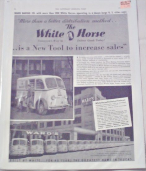 1940 White Horse Delivery Van ad #1