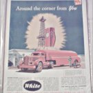White Tanker Tractor Trailer Truck ad
