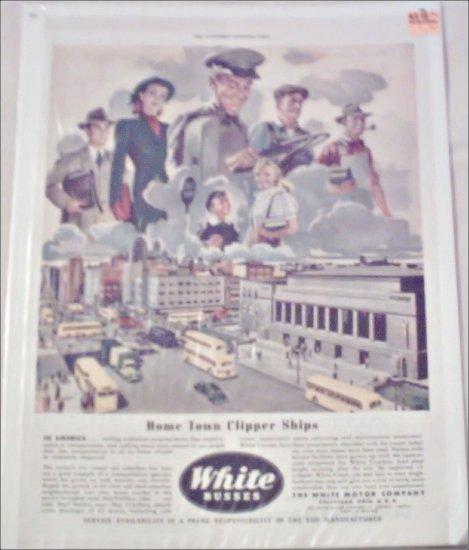 1946 White Bus ad