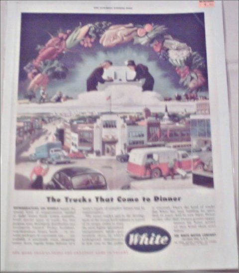 1946 White Food Truck ad