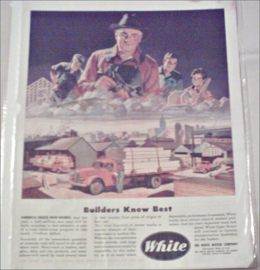 1946 White Flatbed Truck ad
