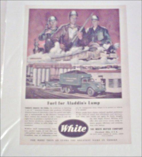 1946 White Coal Truck ad