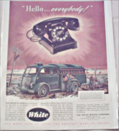 White Telephone Truck ad