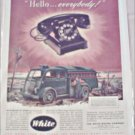 White Telephone Truck ad