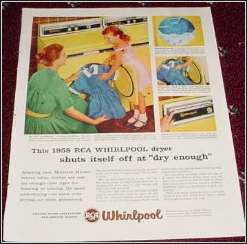 1958 Whirpool Dryer ad