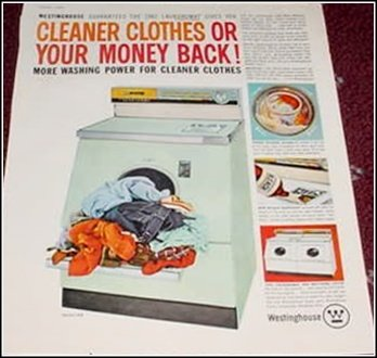 1960 Westinghouse Washer ad