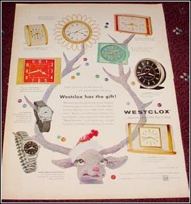 Westclox Christmas ad