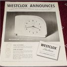 Westclox Moonbeam Electric Clock ad
