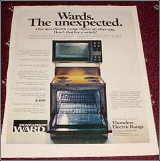 Wards Electric Range ad