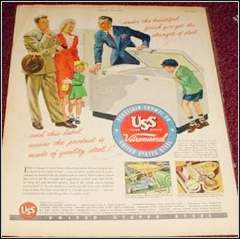 1948 US Steel Freezer ad