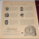 1944 Telechron Electric Clock ad